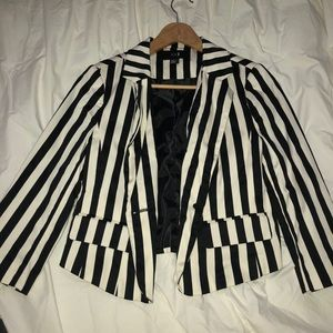 Black & White pinstriped blazer